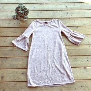 a.n.a pink bell sleeve soft dress Sz small